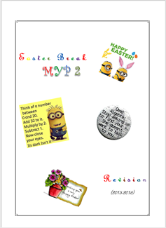 Easter Break Revision (MYP2 //15-16)