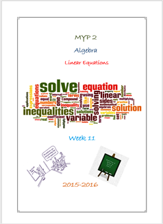 Equations - Presentation (MYP2 //15-16)