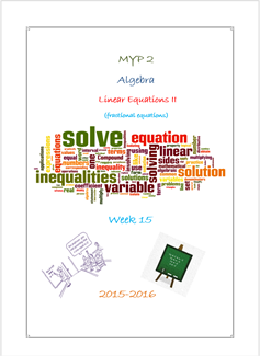Fractional Equations - Presentation (MYP2 //15-16)