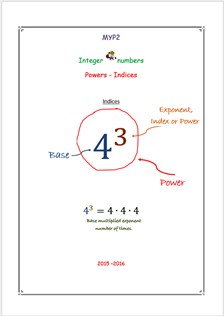 Powers (Basics - MYP2 // 15-16)