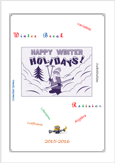 Winter Break Revision (MYP2 //15-16)